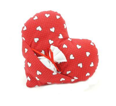 Dekorační polštář srdce s levandulí